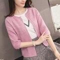 2016 de alta qualidade Primavera outono camisola das mulheres cardigan camisola cor Sólida suéter de cashmere das mulheres JN704