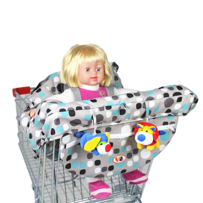 Colorful Anti Dirty Safety Seats Striped Nylon Outdoor Chair Multifunctional Baby Children Folding Shopping Cart Cover For Kids
