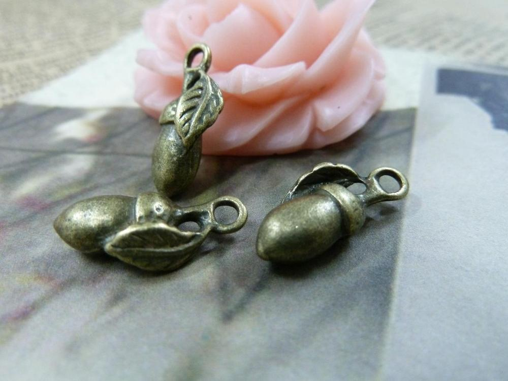 20pcs wholesale vintage alloy fashion accessories Antique Bronze Eggplant Charm DIY Jewelry Making Accessories Free Shipping