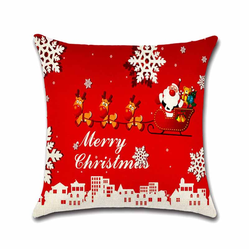 Christmas Decoration Pillow Cover Case 3