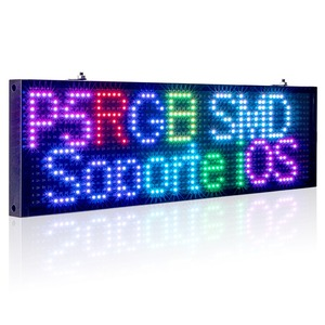 Image 1 - 34cm P5 Smd RGB WiFi LED Sign Indoor Storefront Open Sign Programmable Scrolling Display Board  Industrial Grade Business Tools