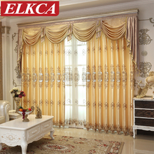 Romantic Tulle Curtains for Bedroom Sheer Lace Curtains for Living Room Modern Faux Silk European Embroidered Luxury Curtains