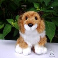 أطفال ألعاب محاكاة الكلب دمية أفخم لعبة محاكاة الكلاب الراعي الاسكتلندي الإناث هدية