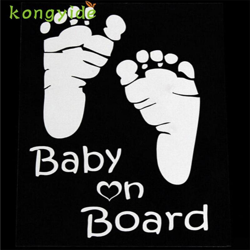 2018 hot sale car-styling Sticker Popular Baby On Board Vinyl Car Graphics Window Vehicle Sticker Decal Decor Auto 18Mar 14