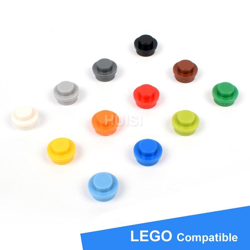 Compatible With LEGOE Star War Figure Bricks Accessories 1x1 Round Plates Plastic Building Blocks Kids Toys Educational 100pcs