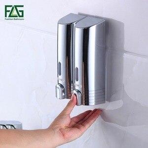 Image 2 - FLG distributeur mural de Double savon, pour shampoing, aide de douche, pour salle de bains, hôpital et hôtel, pas cher P113 02C