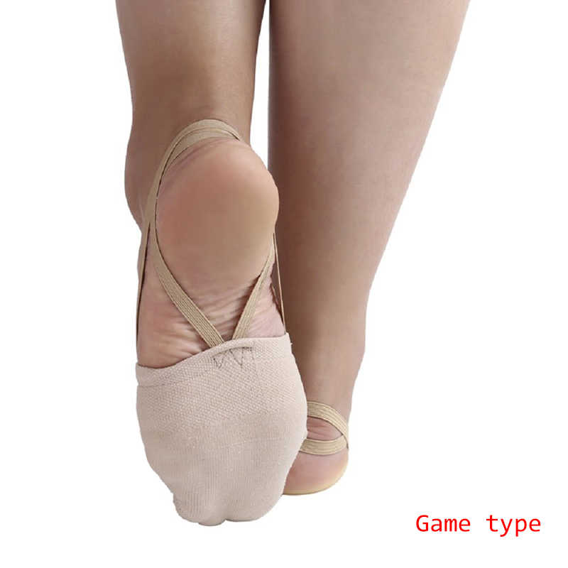eaa4fdde8657 Detail Feedback Questions about 1 Pair Rhythmic Gymnastics Shoes Elastic  Ballet Dancers Shoes Half Socks Ballroom Artistic Czech for Gym Accessories  ...