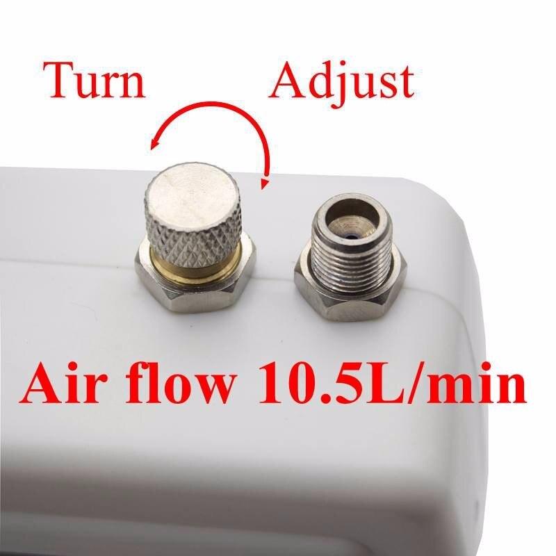 Mini dupla ação airbrush compressor kit 12v