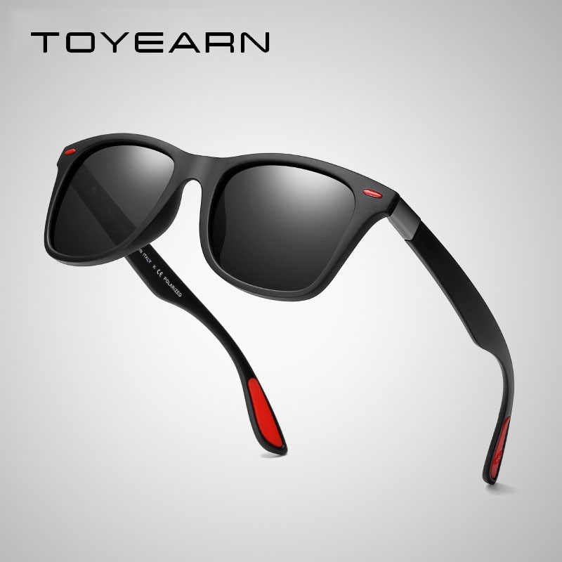 78d816bd0 Detail Feedback Questions about TOYEARN Classic Square Polarized Sunglasses  Men Women Brand Designer Vintage Driving Goggle Rivet Mirror Male Sun  Glasses ...