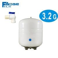 3 2 Gal Metal Reverse Osmosis RO Water Storage Tank White