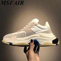 MSFAIR плюс размер 35 45 Повседневная женская обувь брендовые белые ретро Демисезонный летняя модная женская обувь на плоской подошве для ходьб