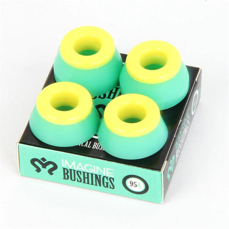 Quality 1 Set Accessory For 2pcs Skateboard Trucks Accessory Black Hard Bushing For The Pro Skate Truck Made With PU Bushing