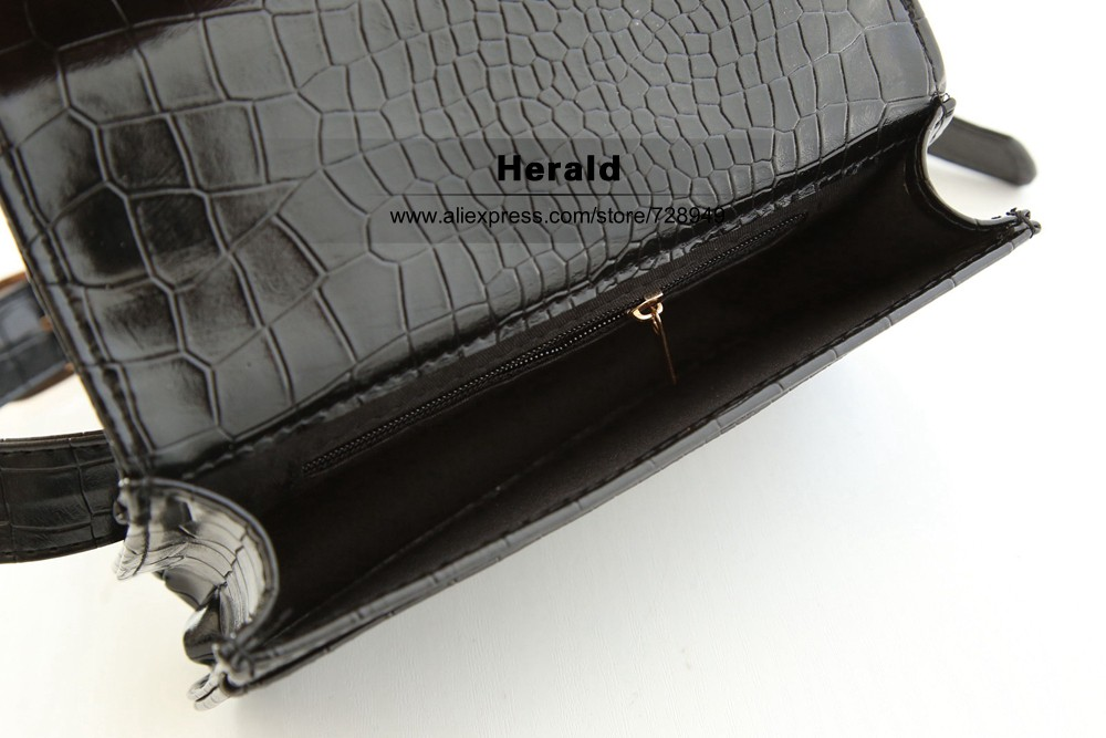 Herald Fashion Women Waist Belt Bag Crocodile PU Leather Belt Pack Waist Bag Small Women Bag Travel Bag Waist Pack Bolsas(4)