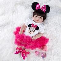 Lifelike Reborn Baby Doll Newborn Toys for Children Christmas Gifts Full Body Silicone Girl Reborn Dolls Birthday Gift
