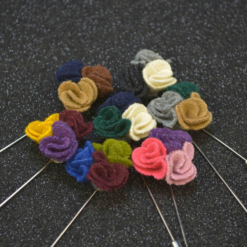 how to make cloth flower pins