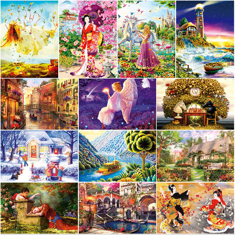 1000 Pieces 70*50cm Jigsaw Puzzles Educational Toys Scenery Educational Puzzle Toy For Kids Christmas Gift D172