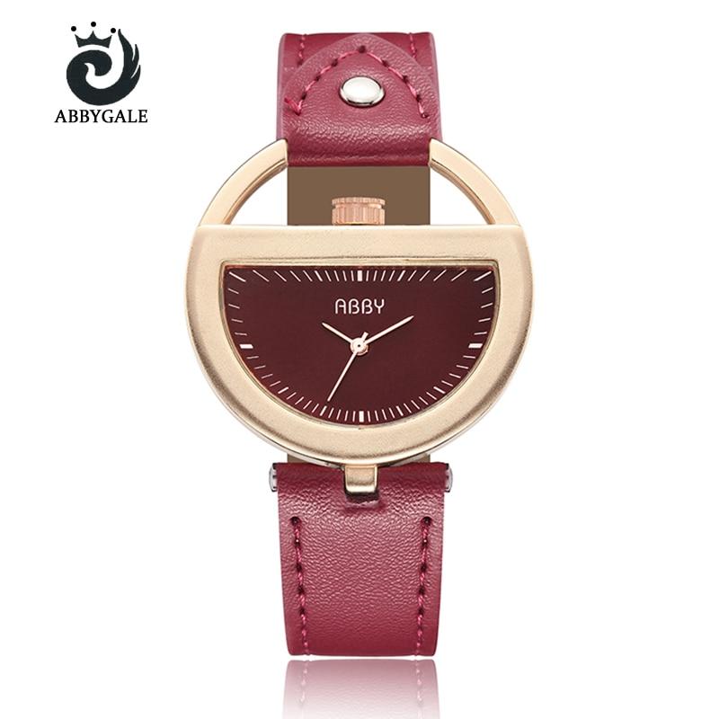 Unique Semi Circle Watch Womens Fashion Hollow Creative Ladies Wristwatch Bracelet Red Relogio Feminino Vintage Reloj Mujer