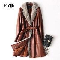 PUDI A27289 натуральная овчина пальто куртки пальто женские зимние теплые норки пальто с мехом натуральная кожа внутри зимняя куртка