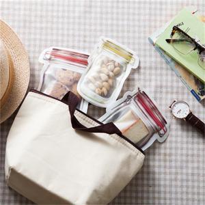 Image 5 - 3or4 Pcs/set Composite Material Lebensmittel Erhaltung Lagerung Tasche Keks Snack Lebensmittel Ergänzung Essen Zipper Seal Kleine Ware