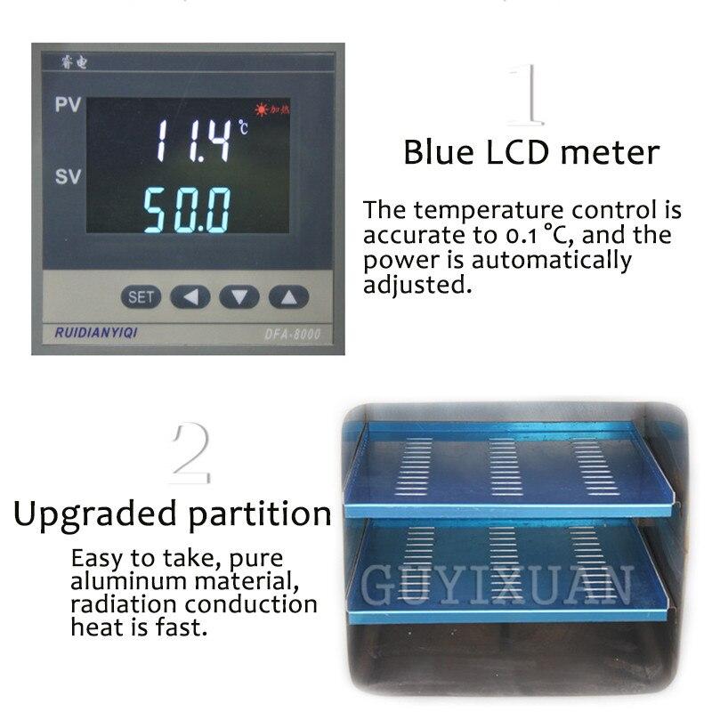 DZF 6020A Laboratorium Extractie Elektrische Verwarming Thermostaat Digitale Vacuüm Droogoven Laboratorium Drogen Tool - 4