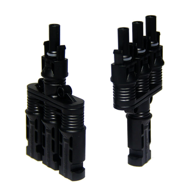 MAYLAR@ 25 Years Warranty 20 pair PPO Material IP67 With TUV,1 To 3 type Branch MC4 Triple Connector,Fedex Free Shipping