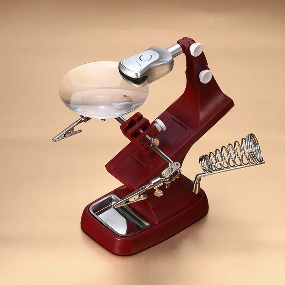Magnifier Hand Led Stand Light Soldering Helping