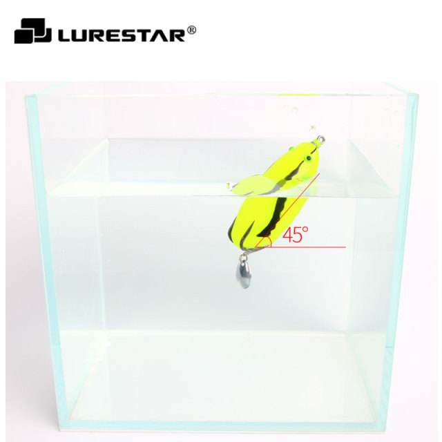 28g 85mm Japan Mould Big Rubber Frog Fishing Lures With balance weight Spoon Snakehead Lure Floating Artificial Bait pe