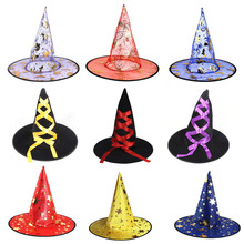 Delle Ragazze Delle donne Singolo Strato Strega Cappello da Mago Cappelli  di Halloween del Costume di d586f4e7b012