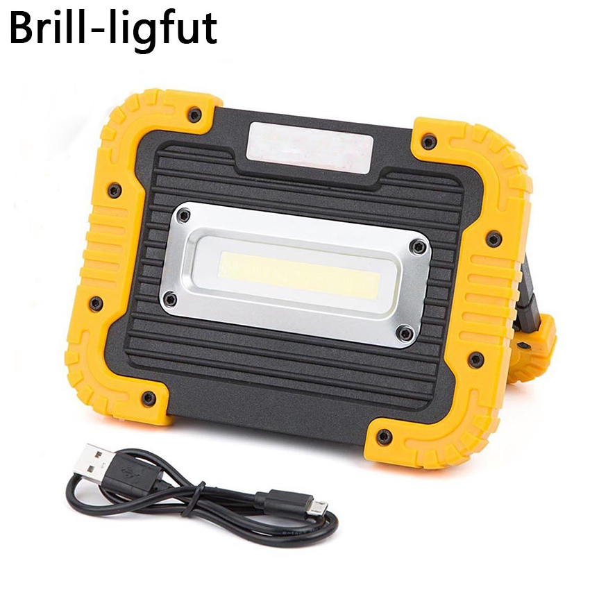 20W Portable Rechargeable COB Camping Car Lamp Work Light Outdoor Waterproof Floodlight Flashlight Hiking Tent Lamp Searchlight