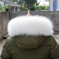 White Fox Collar Women Fashion Real Fur Scarf Hot Black Fur For Hood