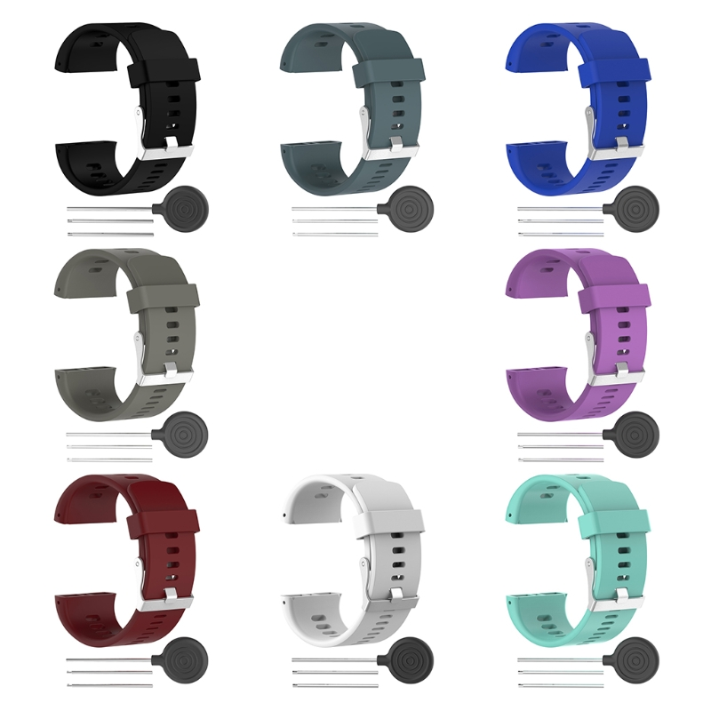 Silicone Replacement Wrist Band Strap Bracelet For Polar V800 Sport Smart Watch #T50P# Drop ship eache silicone watch band strap replacement watch band can fit for swatch 17mm 19mm men women