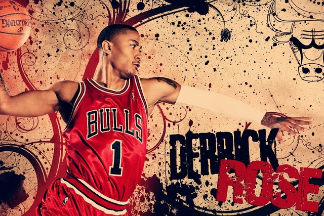Derrick Rose Basketball Poster 12 X18 Print Silk Fabric Art Wall