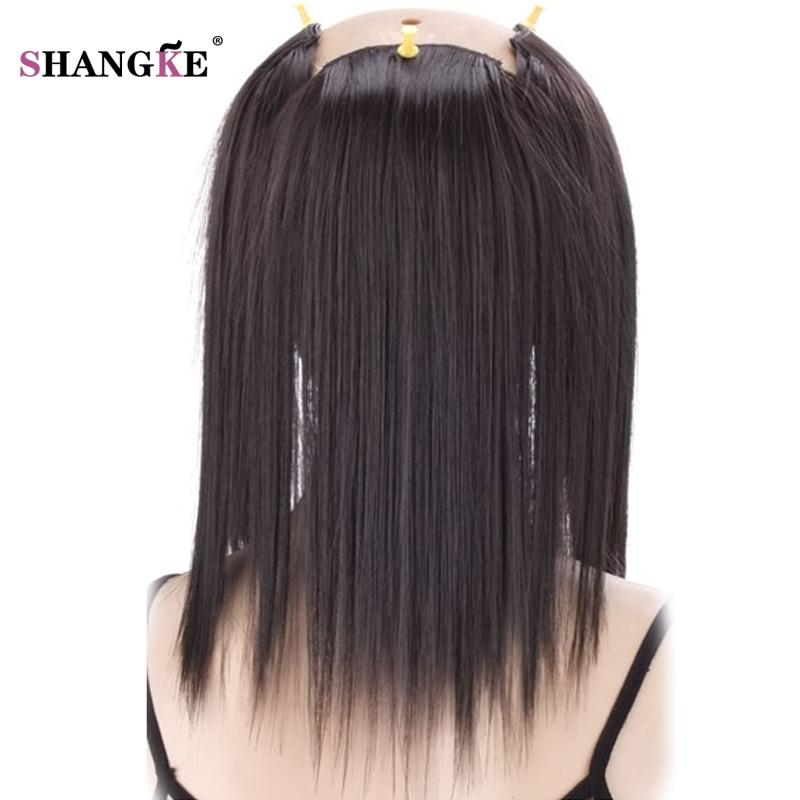 SHANGKE 3 Klipp i hårförlängningar Medium Rakiga Hårstycken - Syntetiskt hår - Foto 3