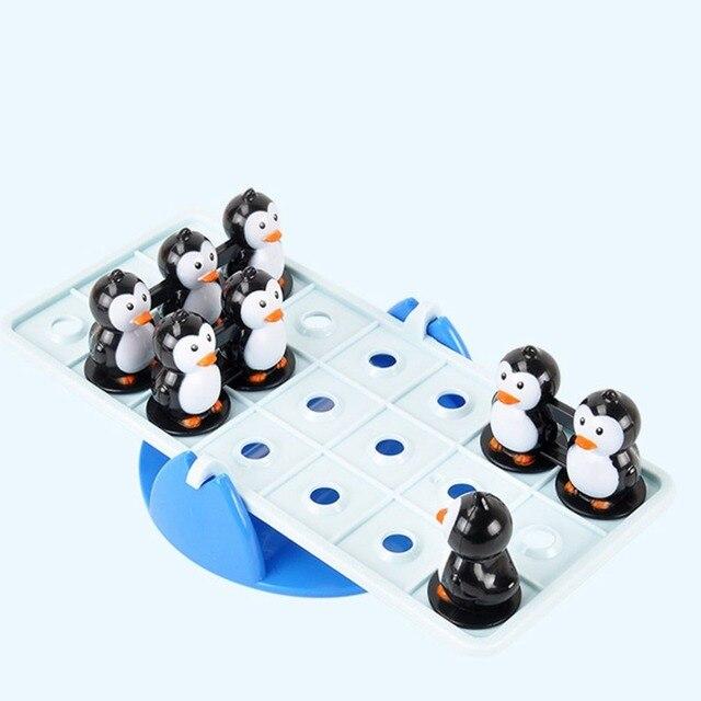 OCDAY Kids Seesaw Balanced Penguin Set Funny Family
