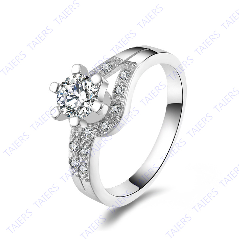 925 sterling-silver-jewelry flower Zircon fine A special Ring nickel-free TAIERS Christmas gift Free shipping
