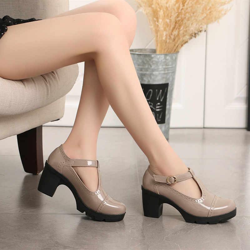 """Cu Cu 2019 Nữ Giày Nữ Giày Cao Gót Giày Mary Jane Giày Đế Zapatos Mujer """"Văn Phòng Đảng Tiệc Chaussures Femme 1081"""
