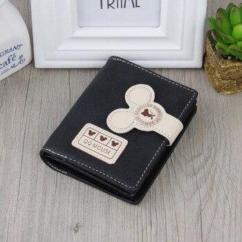 Women small wallet cartoon mickey cute coin purse hasp card holder womens wallet 5
