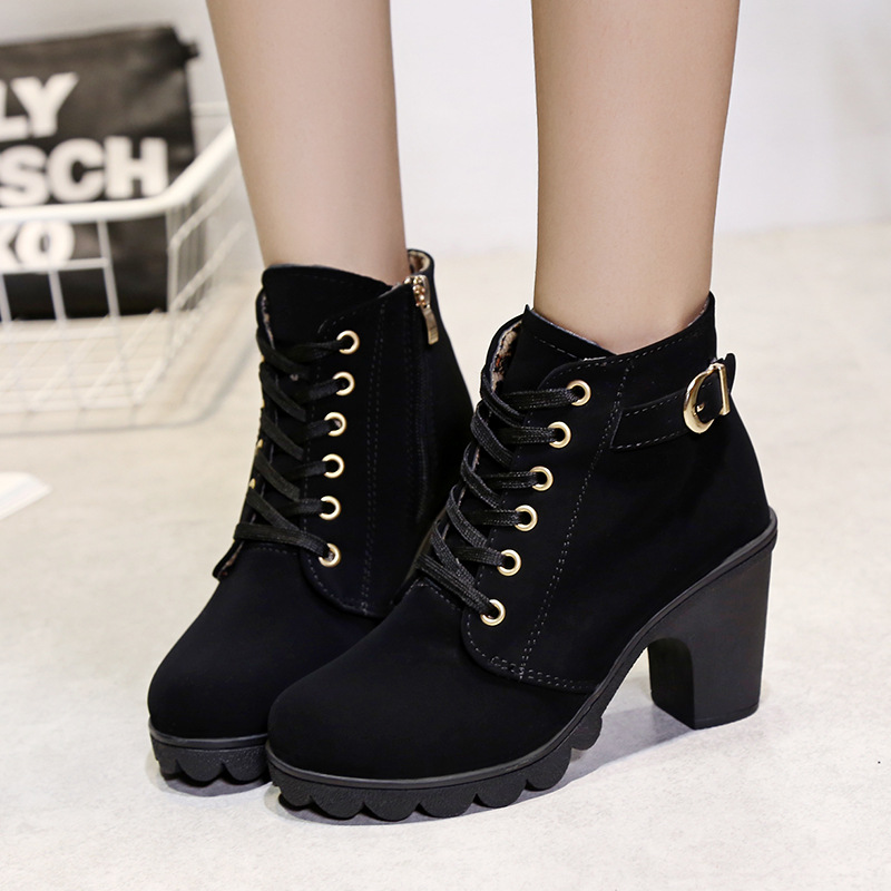 Leather Ankle Boots For Women Boots 2018