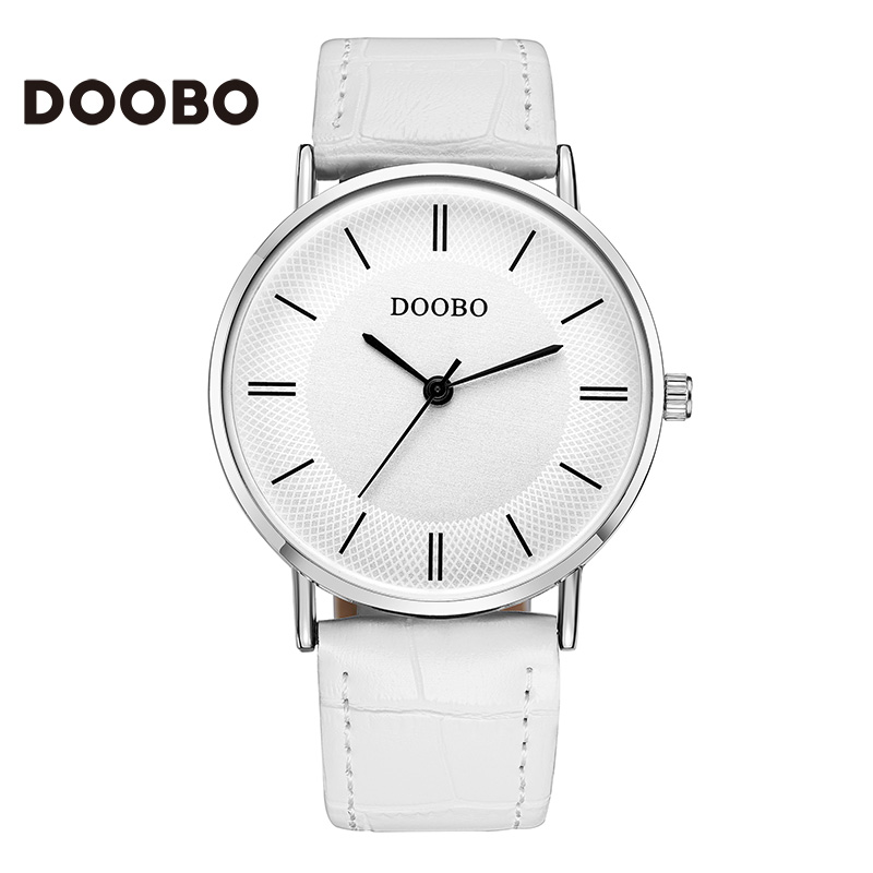 Top Brand Creative Quartz watch men Luxury Casual White quartz-watch Simple Designer Fashion strap clock male New DOOBO burei top brand creative quartz watch men luxury casual black japan quartz watch simple designer fashion strap clock male new