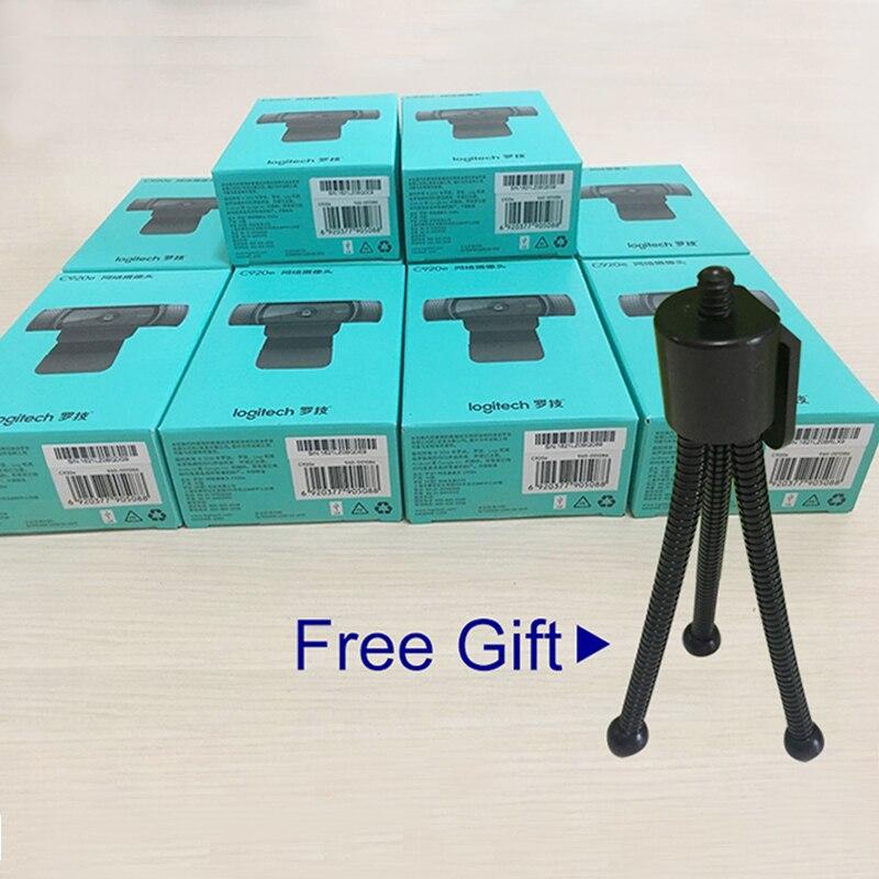 Logitech HD 1080p Pro Webcam C920e for desktop and Laptop webcam with free gift
