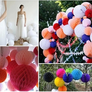 Hot sale different 5 size Tissue Paper Honeycomb Balls Decorations Craft Supplies Party Wedding Decoration Event Party Supplies