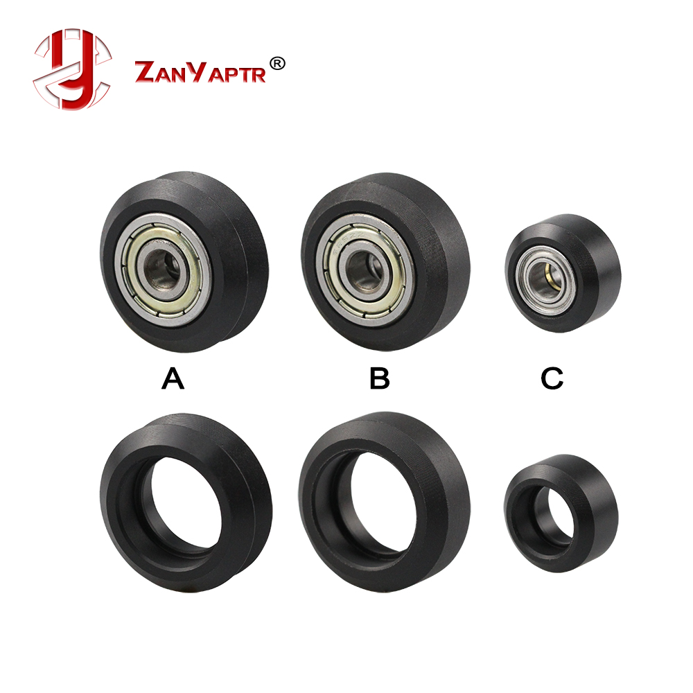 1pcs CNC Openbuilds Plastic wheel POM with <font><b>625zz</b></font> MR105zz Idler Pulley Gear Passive Round Wheel Perlin Wheel V type for V-Slot image