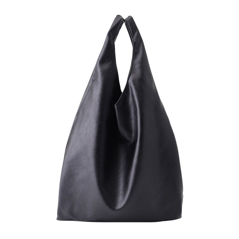 Simple Soft Pu Leather Shopping Bag Solid Color Wild Tote Casual Large Capacity Women's Handbag Composite Bag Tote Sac Bols