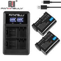 2x EN-EL15 en el15 batterie + chargeur usb pour Nikon D750 reflex batterie D7000 D7100 D7200 D610 D7500 D810 D850 Z7 Z6 Suivi