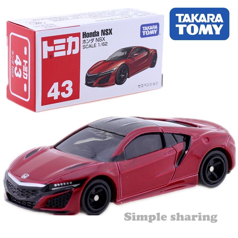 Takara Tomy Tomica No.43 Honda NSX Car 1:62 Miniature Diecast Baby Toys Model Kit Pop Funny Kids Dolls Collectibles