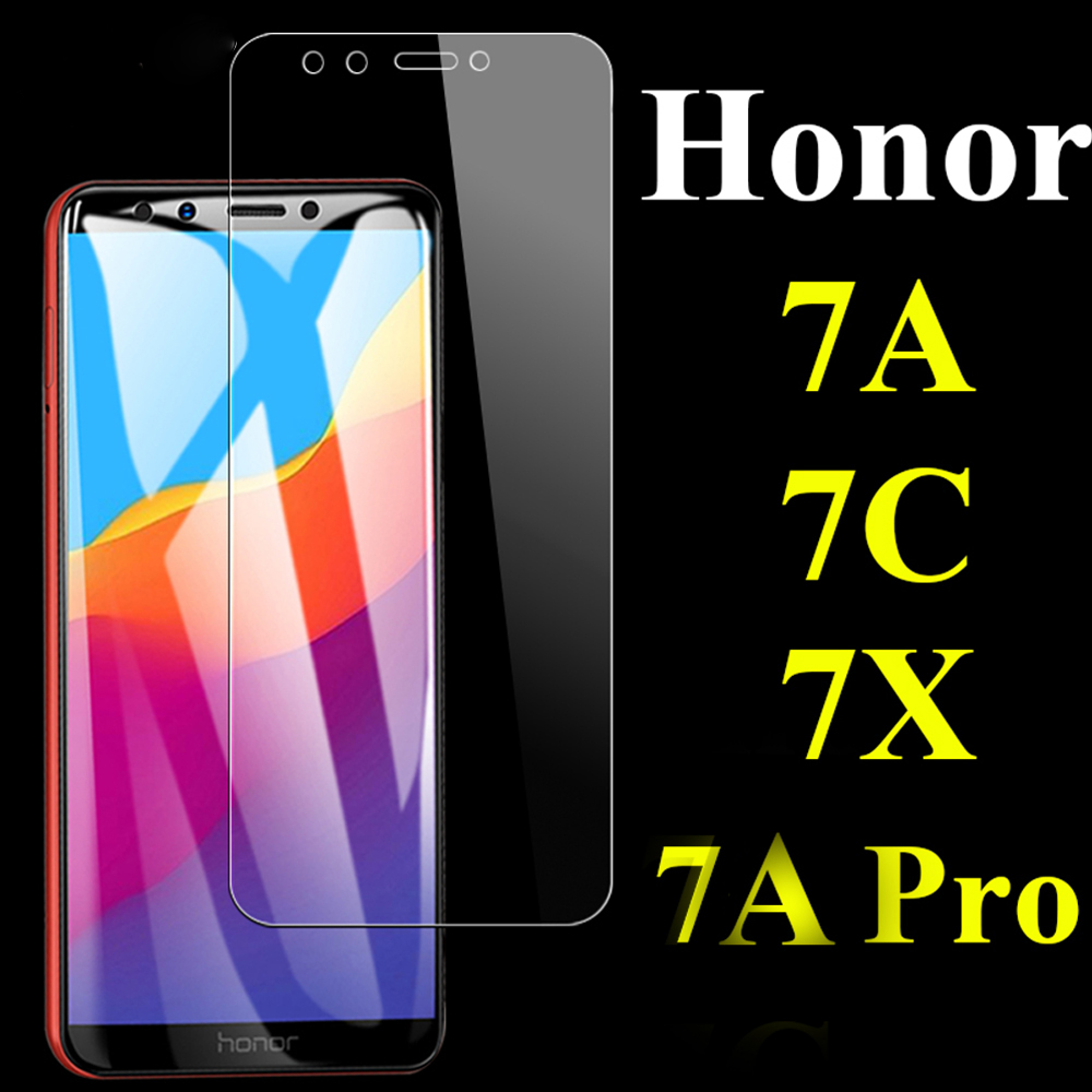 Glass For Huawei Honor 7 7C 7A Pro 7X 7S Y5 Prime 2018  Phone Screen Protector Protective Film  For Huawei Tempered On The Glass