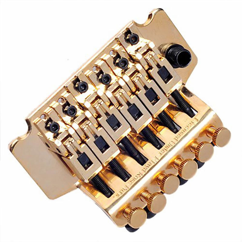 1Set Metal Gold Tremolo System Guitar Parts & Accessories Double Lockaing Floyd Rose Guitar Tremolo Bridges belcat bass pickup 5 string humbucker double coil pickup guitar parts accessories black