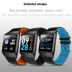 Image 4 - Wearpai W1C platz uhr led touchscreen herz rate überwachung blutdruck Schrittzähler fitness uhren Wasserdicht für Sport