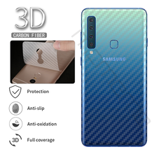 5Pcs Protective Film Clear 3D Carbon Fiber Soft For Samsung Galaxy A9 2018 Screen Protector Sticker Back Film Not Tempered Glass