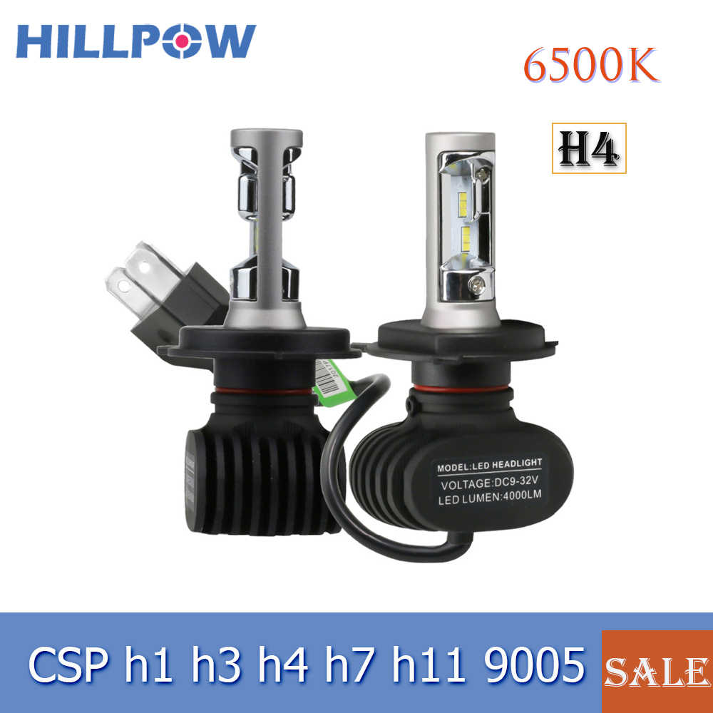 New H27/880 h4 H7 Led Headlight H13 9005 HB3 9006 HB4 Led Car Bulb 6500K 8000LM CSP Chip 72W Fan-less H8 H11 Fog Lamp Promotion